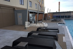 This Bomanite Exposed Aggregate Alloy finish was perfect to provide a slip resistant, durable, and low maintenance hardscape surface at the Tulsa Hard Rock Hotel & Casino, and for our installation of this cohesive deck area we, with great pride, received the 2017 Best Bomanite Exposed Aggregate Project Bronze Award.