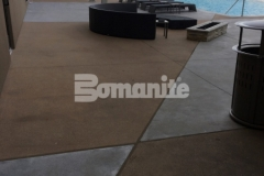We installed Bomanite Alloy architectural exposed concrete here at the Tulsa Hard Rock Hotel & Casino to create a durable and decorative pool decking that will provide long-term wear resistance and hold up to the foot traffic that comes with club goers, wedding parties, corporate events, and concerts.