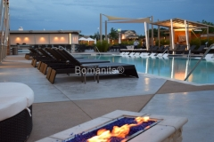 Bomanite Exposed Aggregate Alloy was installed by Bomanite of Tulsa at the Hard Rock Casino Pool and Spa to create pool decking that is durable and slip resistant and also complements the contemporary feel at this resort.