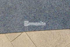 The St. Louis Aquarium features a beautiful hardscape surface that was created using Bomanite Revealed and this durable surface perfectly portrays the confluence of the Mississippi and Missouri Rivers while adding beautiful detail through coloration and aggregate selection.