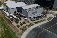The Flight at Tustin Legacy features hardscape surfaces that were created using Bomanite Revealed Exposed Aggregate, a sustainable finishing option that will provide a highly decorative and durable finish.