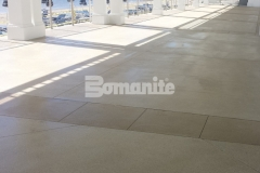 The Westchester Country Club Beach Club area features Bomanite Revealed decorative concrete for the walkways, main dining areas, and patios and was installed by our colleague Beyond Concrete to provide an extremely durable surface that will withstand the environmental challenges of being beachside.