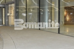 The 2018 Silver Award for Best Bomanite Exposed Aggregate System was given to our associate, Colorado Hardscapes, for their expert installation of Bomanite Sandscape Refined decorative concrete at 50 Fifty DTC, and the distinctive detail that was added enhances the intricate and sophisticated design aesthetic of this porte-cochere.