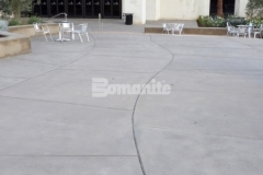 Sandscape Refined Antico decorative concrete by Bomanite was installed in the CrossCity Christian Church courtyard area to create a hardscape surface that is modern and contemporary to match the design aesthetic of the surrounding buildings and adjacent gathering spaces.