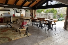 Our colleague Heritage Bomanite used the Bomanite Exposed Aggregate Antico process and Bomanite Imprint Systems to add textural detail and character to this backyard oasis, creating two distinct decorative concrete surfaces that complement the design aesthetic while providing durability.