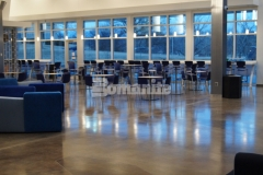 Bomanite of Tulsa used the Bomanite Patene Artectura toppings system to create a decorative concrete flooring surface at the Oral Roberts University Armand Hammer Alumni Student Center, adding a distinctively beautiful and artistic element of design to the space.